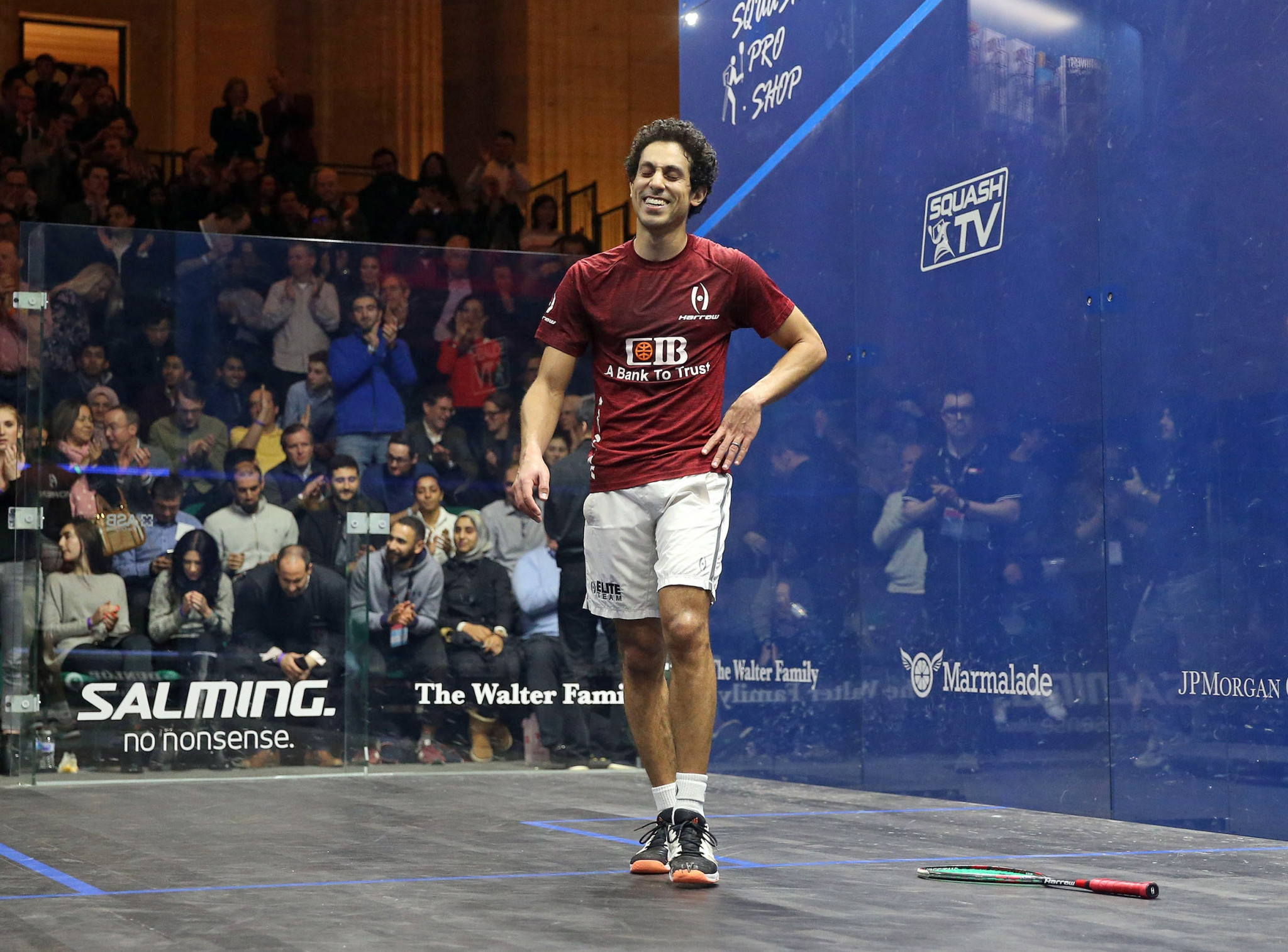 World number three Tarek Momen ended the run of reigning champion Mohamed Elshorbagy to reach the final of the PSA World Championships in Chicago ©PSA