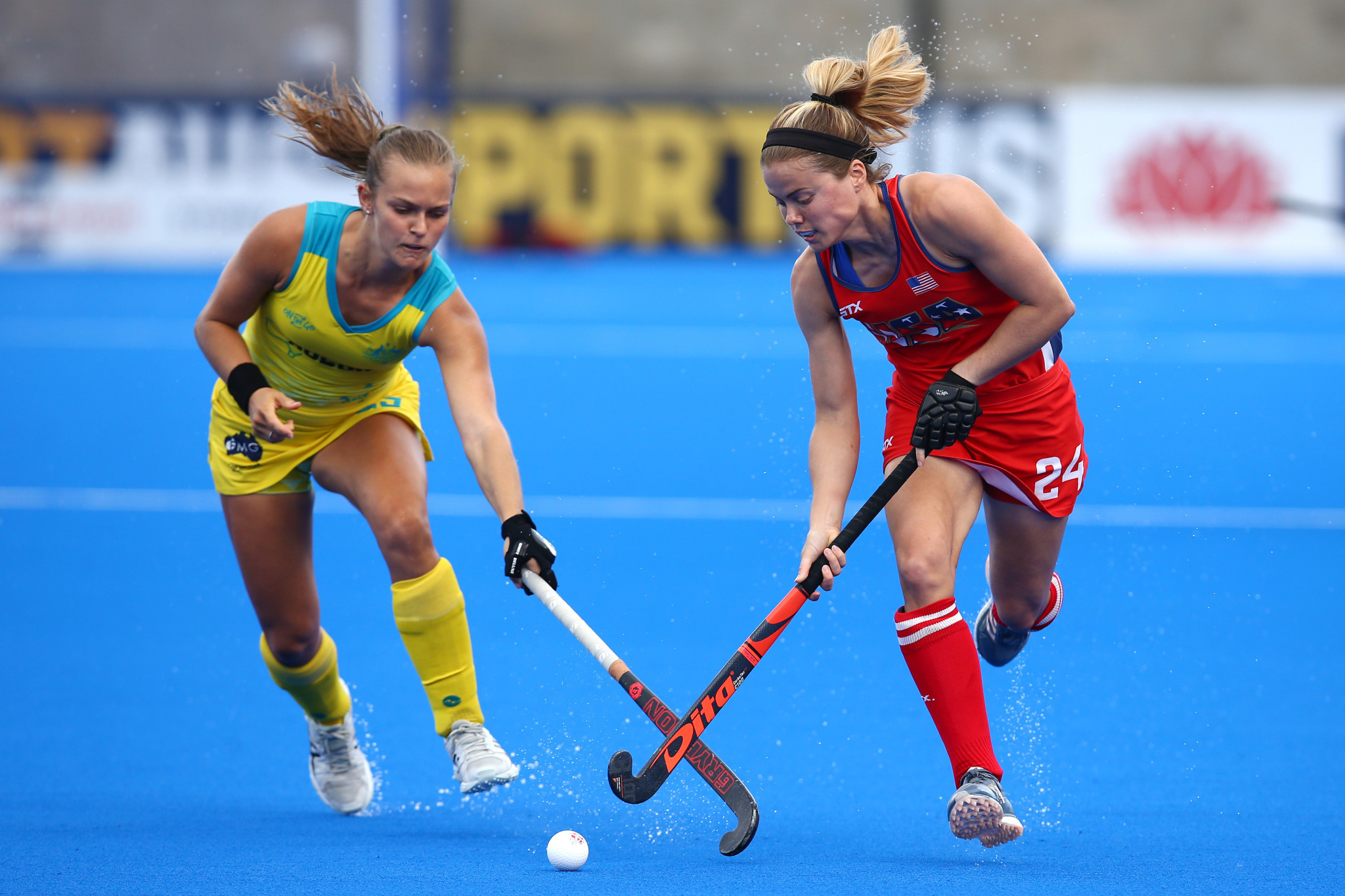 Australia's women beat the United States thanks to two goals in the last quarter of the FIH Pro League in Sydney ©Getty Images