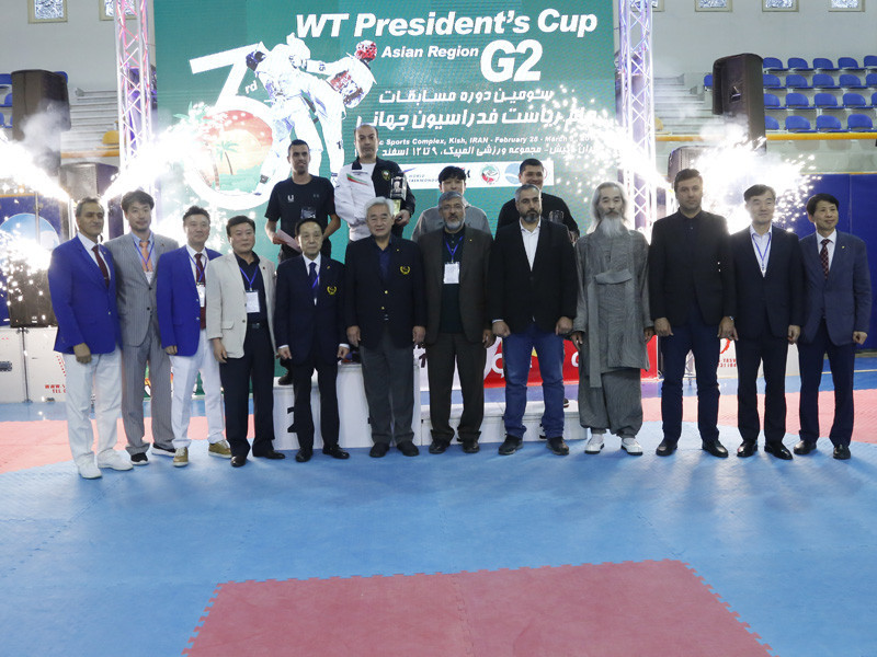 Hosts Iran claimed five gold, two silver and one bronze to finish first in the senior men's medal standings at the World Taekwondo President's Cup for Asia region on Kish Island ©IRITF