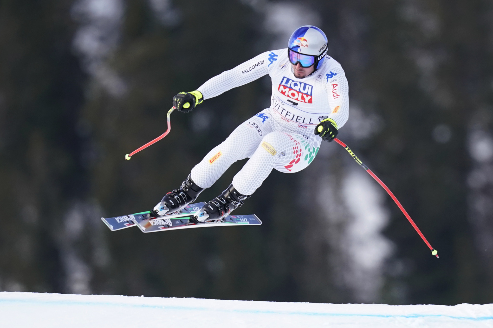 Italy's Dominik Paris won today's downhill in Kvitfjell ©Getty Images