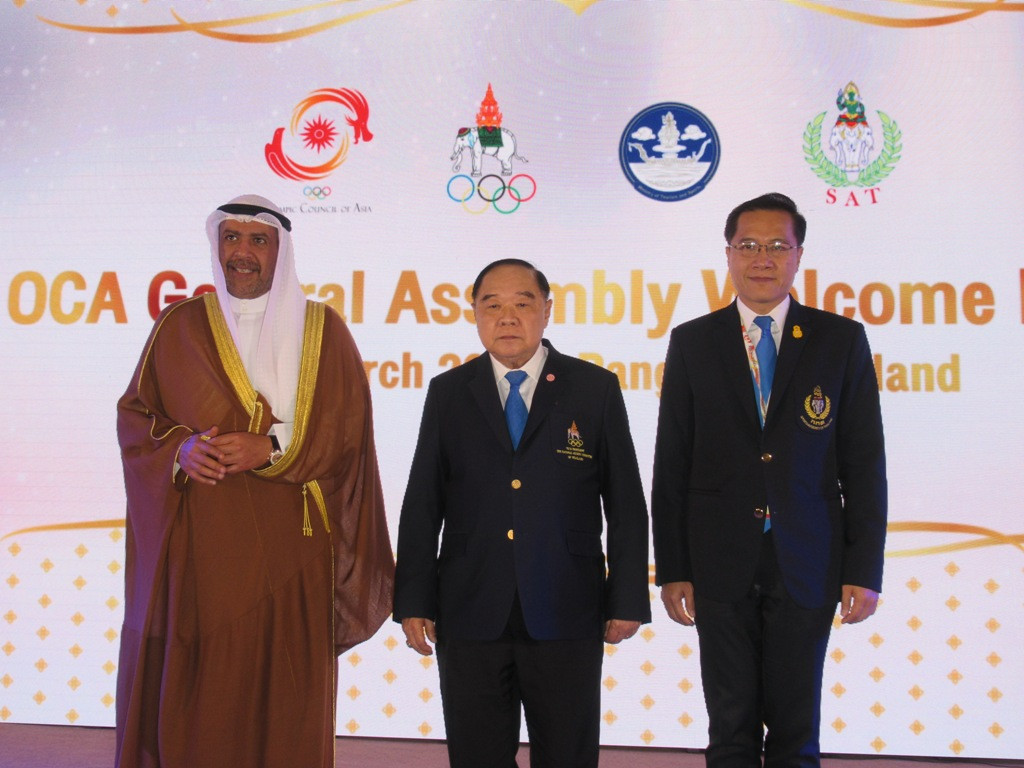 Sheikh Ahmad Al Fahad Al-Sabah has received a warm welcome in Bangkok, host of the 38th Olympic Council of Asia General Assembly and where he is set to be re-elected as its President, a role he has held since 1991 ©OCA