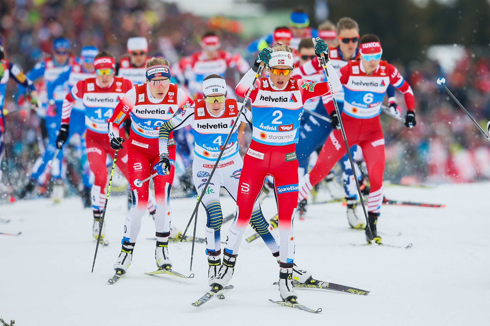 The Norwegian sealed her hat-trick of gold medals with a commanding win in the long distance race ©Getty Images