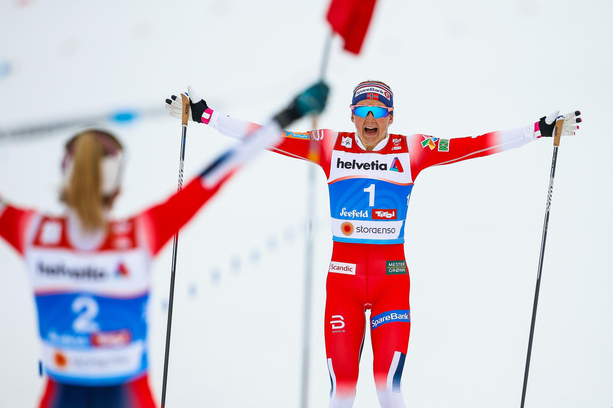 Ingvild Flugstad Østberg took the silver medal behind her team-mate ©Getty Images