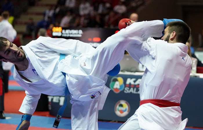 Aktas eases into men's under-84kg final at Karate 1-Series A in Salzburg