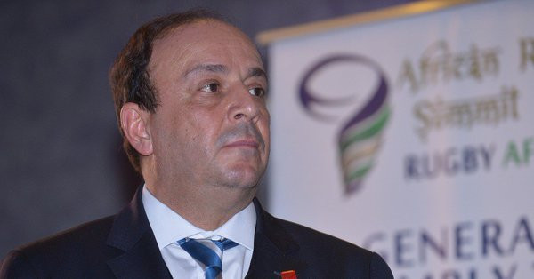 Tunisia's Khaled Babbou was elected the new President of Rugby Africa to replace Morocco's Abdelaziz Bougja, who has stood down after 17 years ©Rugby Africa