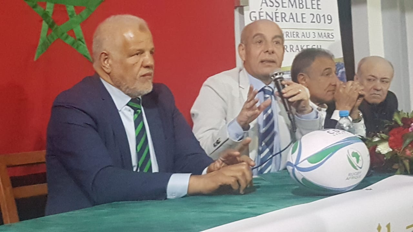 Khaled Babbou replaced Morocco's Abdelaziz Bougja, who was elected Honorary President of Rugby Africa after stepping down following 17 years in the top job ©Rugby Africa