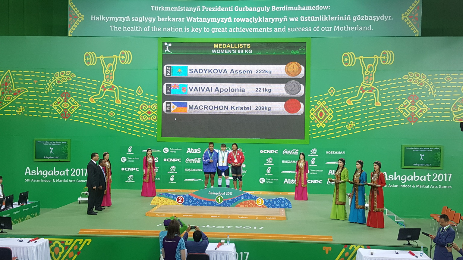 Athletes from 19 Oceania countries, including Fiji, competed at the 2017 Asian Indoor and Martial Arts Games in Ashgabat in Turkmenistan - an invitation now set to be extended to Hangzhou 2022 ©Ashgabat 2017