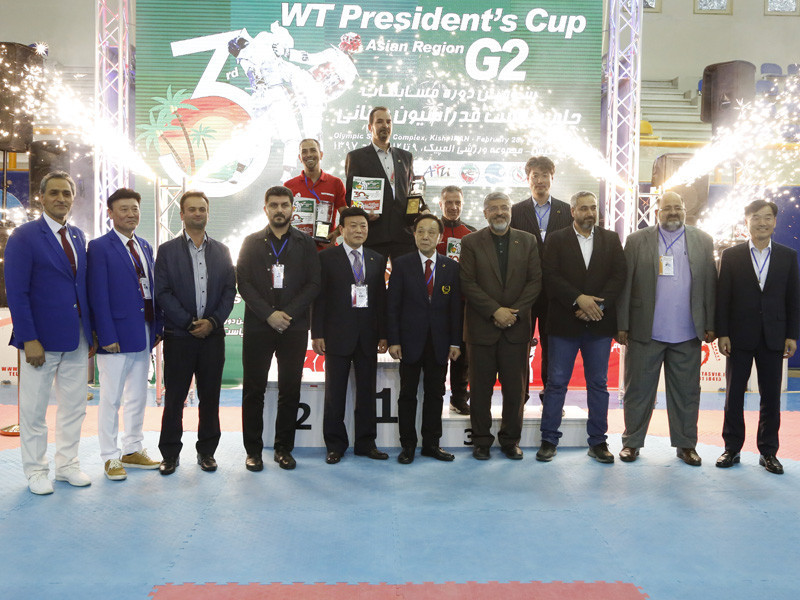 Hosts Iran finished top of the men's and women's junior medal standings at the World Taekwondo President's Cup for Asia region on Kish Island ©IRITF