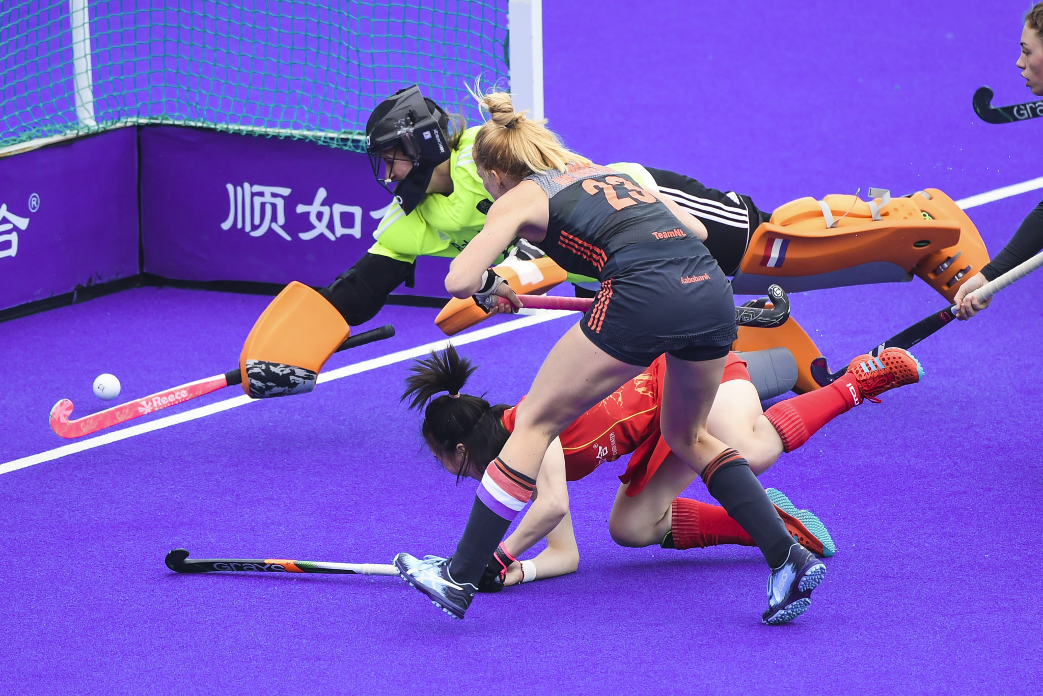 China proved tough opponents for the Dutch team before the visitors eventually claimed a dramatic win ©Getty Images