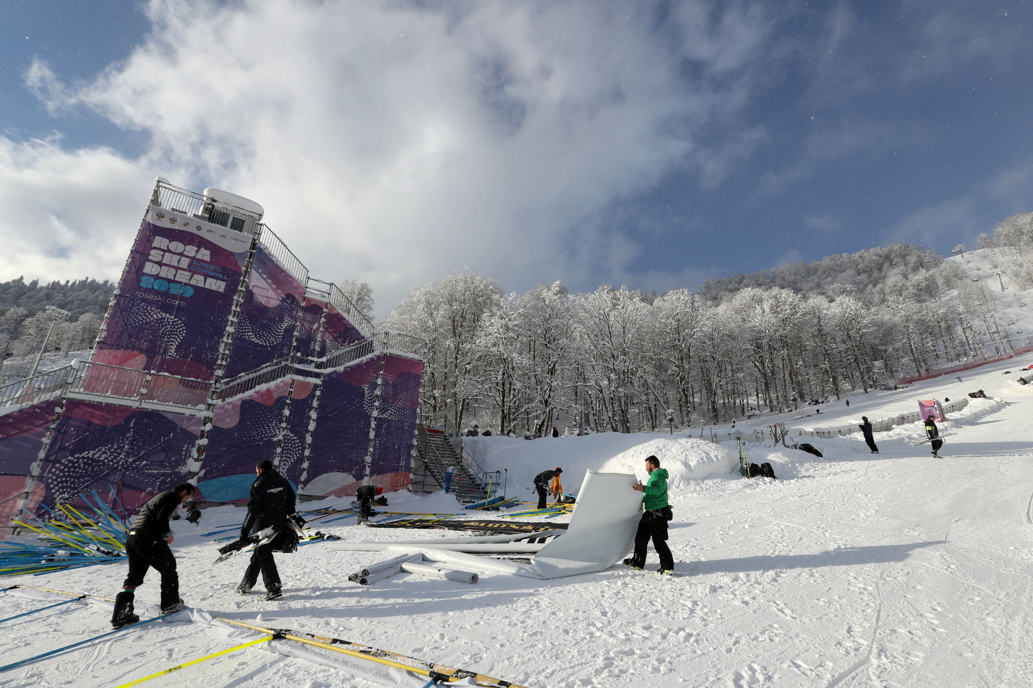 Today's women's super-G competition in Rosa Khutor in Russia became the latest to fall victim to the weather ©Getty Images