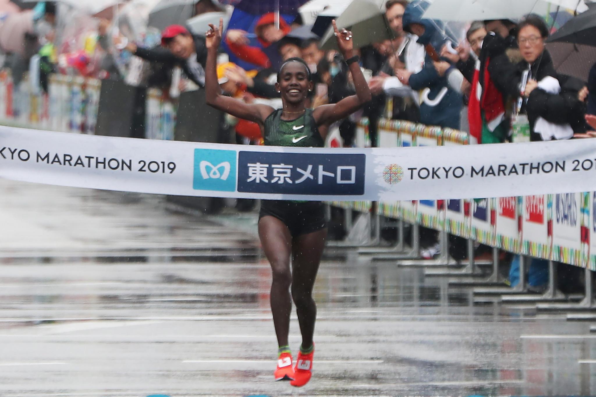 Legese and Aga ensure Ethiopian double at Tokyo Marathon