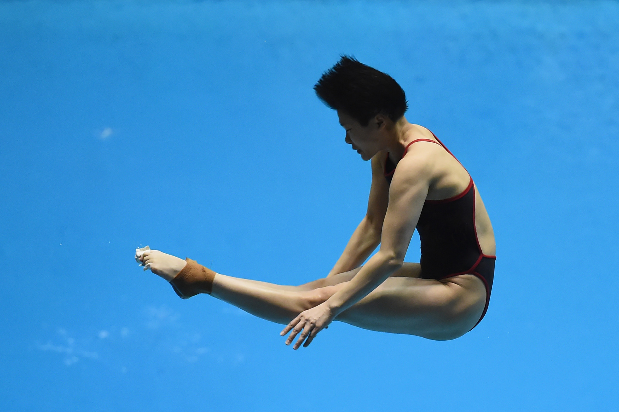 Tingmao Shi won the women's 3m title at Sagamihara Green Pool ©Getty Images
