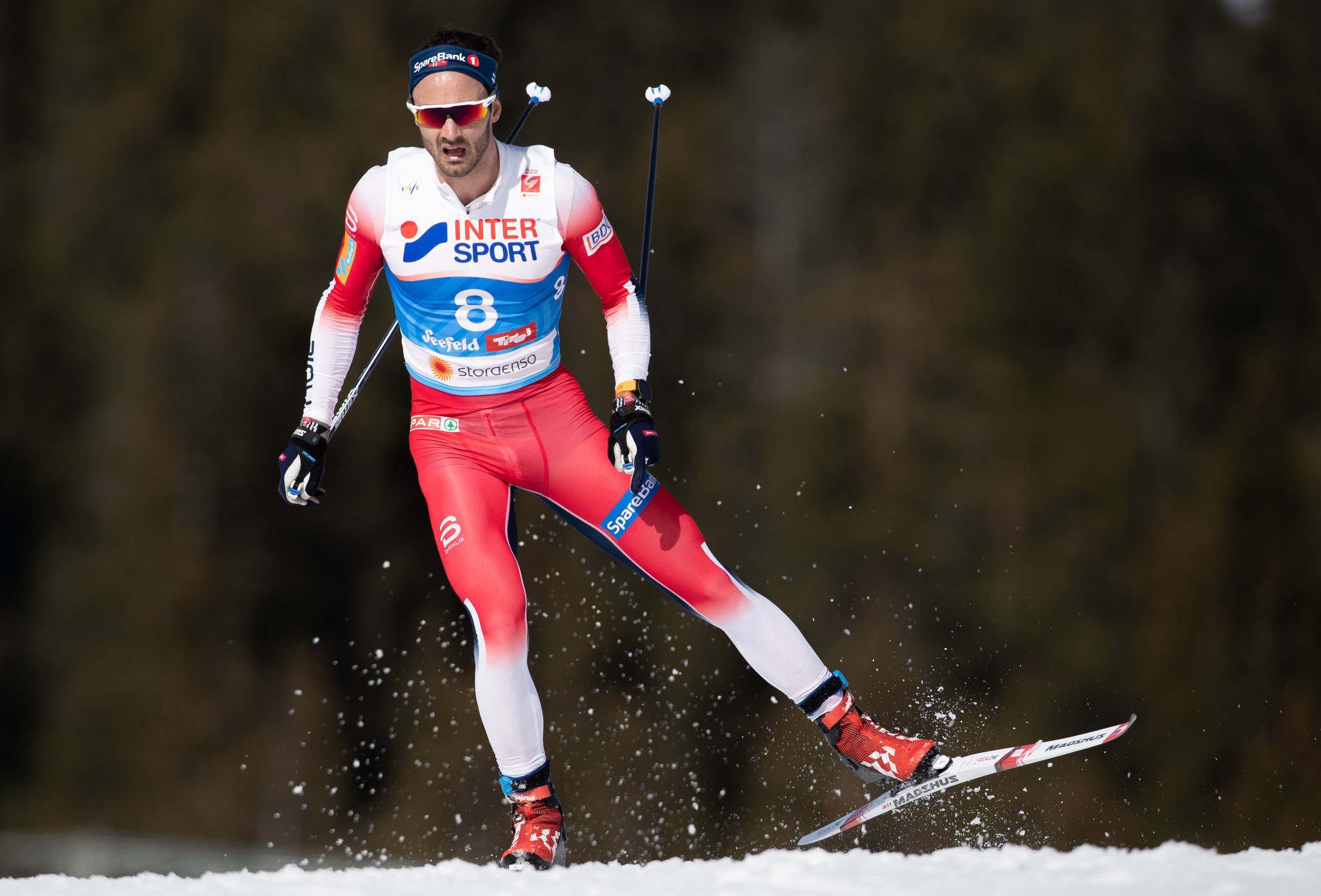 Hans Christer Holund caused an upset on the final day of the International Ski Federation Nordic World Ski Championships ©Getty Images