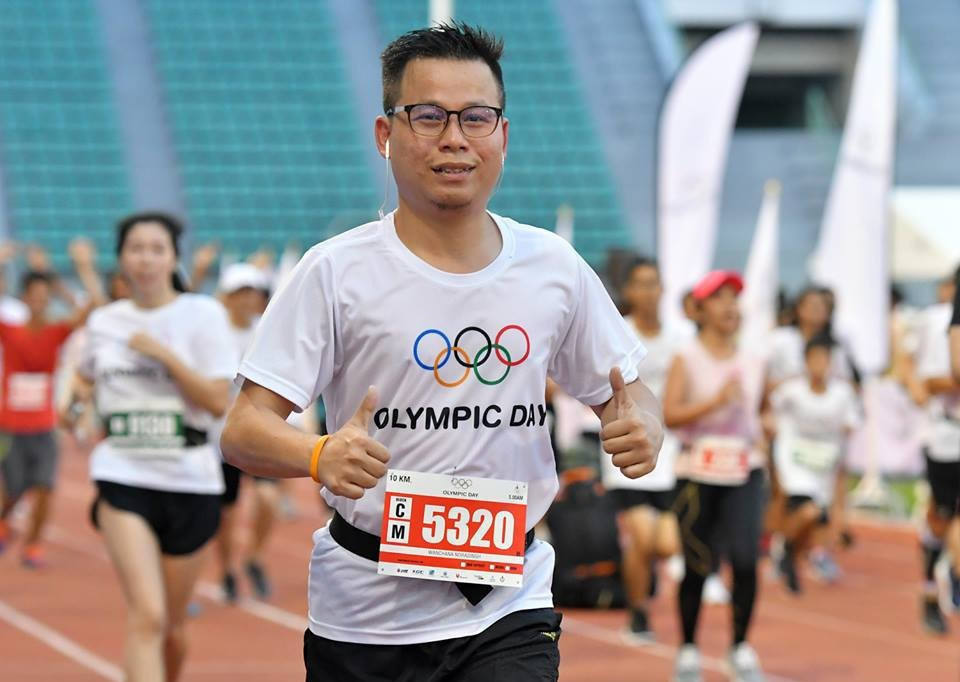 Olympic Day is celebrated around the world, including in Thailand, on or around June 23 to mark the formal establishment of the International Olympic Committee by Pierre de Coubertin ©NOCT