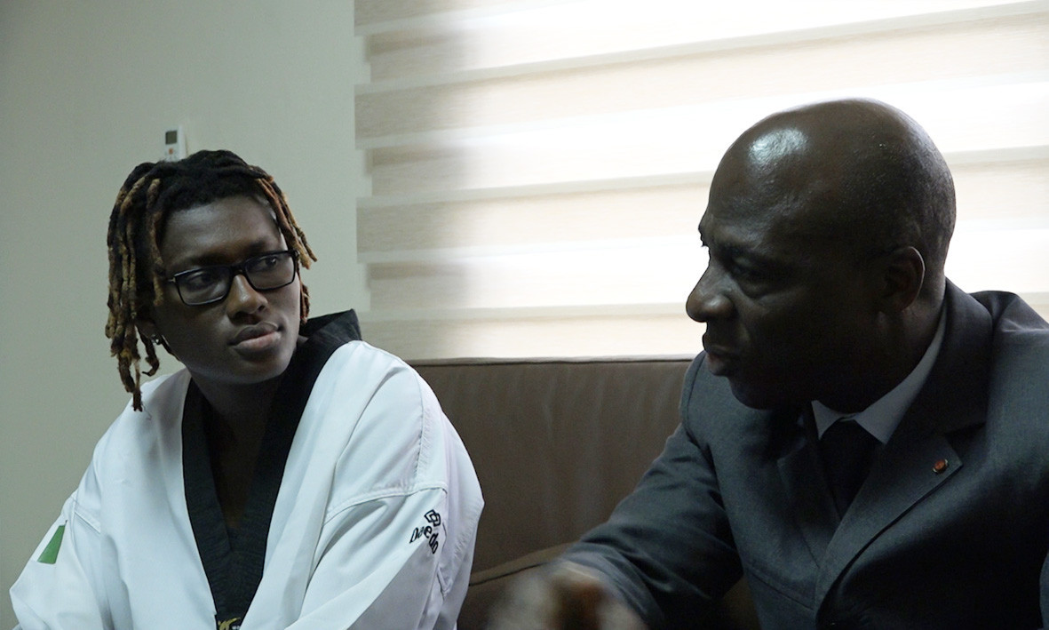 Ruth Gbagbi met with Bamba Cheick Daniel, the President of the Ivorian Taekwondo Federation ©FITKD
