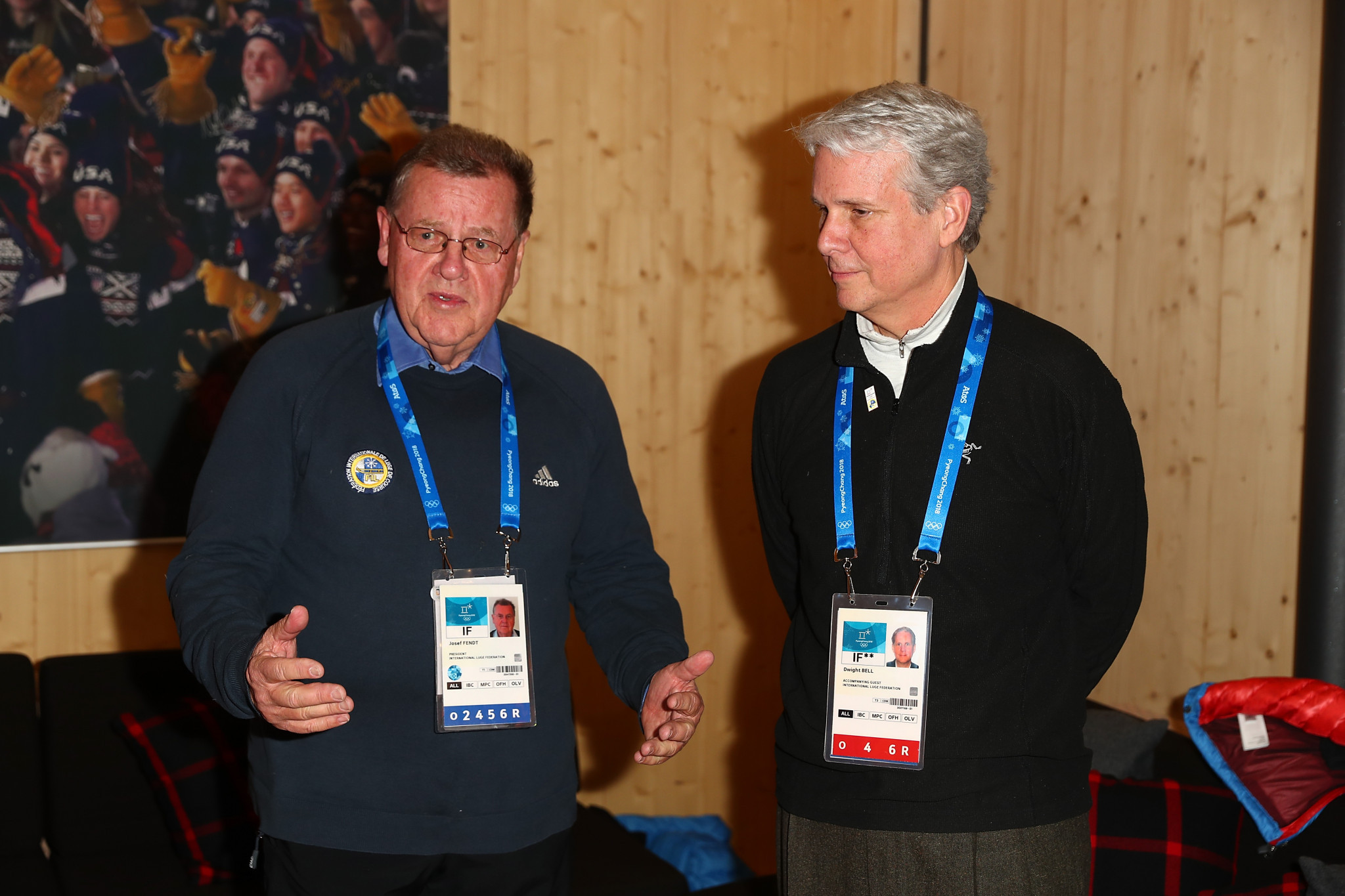 FIL President Josef Fendt, left, has been at the helm of the governing body since 1994 ©Getty Images
