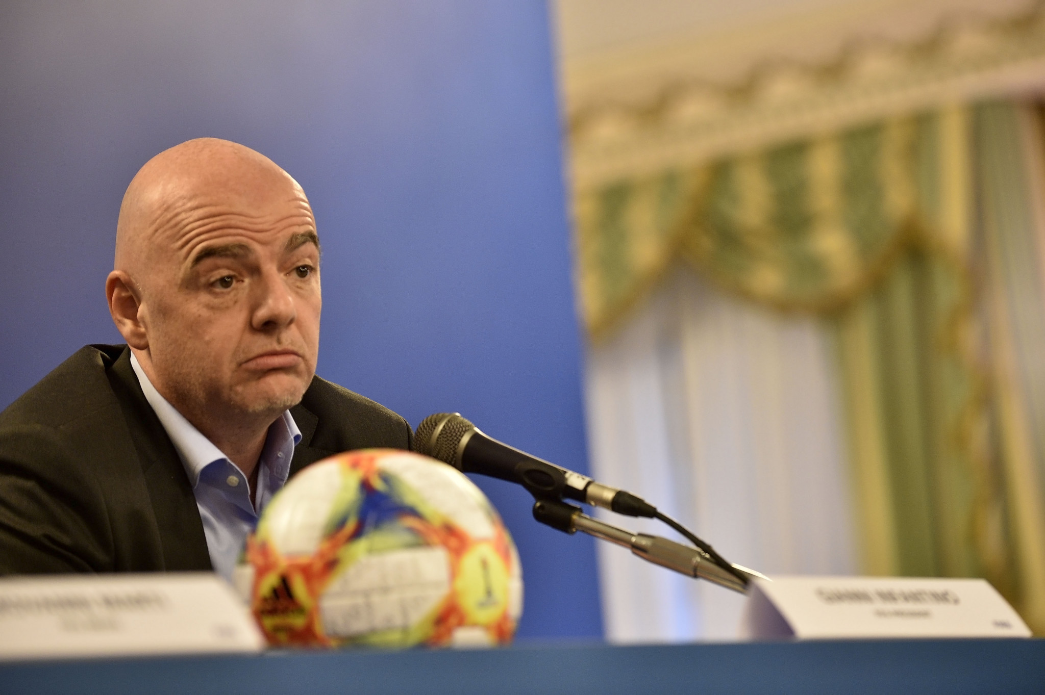 FIFA President Gianni Infantino has been accused of influencing the Ethics Commission, allegations which he denies ©Getty Images