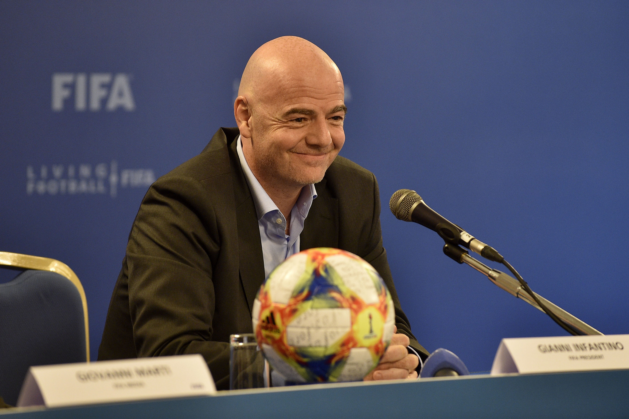 FIFA President Gianni Infantino admitted he is aware of a possible joint bid from North and South Korea for the 2023 Women's World Cup, but it has still to gain Government support ©Getty Images