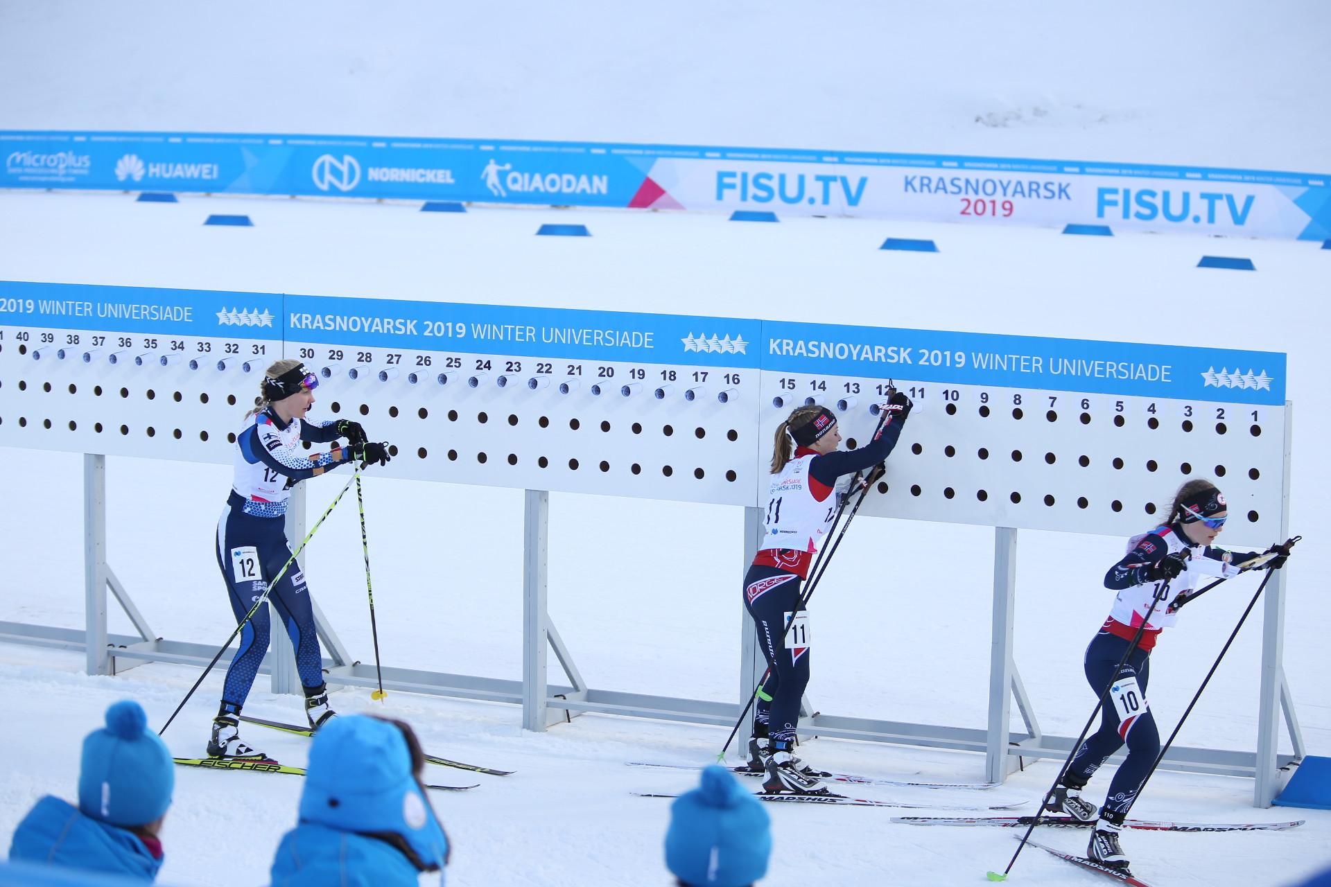 Russia's Marina Viatkina triumphed in the women's ski orienteering pursuit event at the Krasnoyarsk 2019 Winter Universiade ©Krasnoyarsk 2019