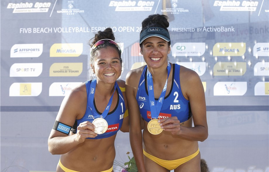 Australia's Taliqua Clancy, left, and Mariafe Artacho will defend their FIVB Beach Volleyball World Tour title at Manly Beach this week ©FIVB
