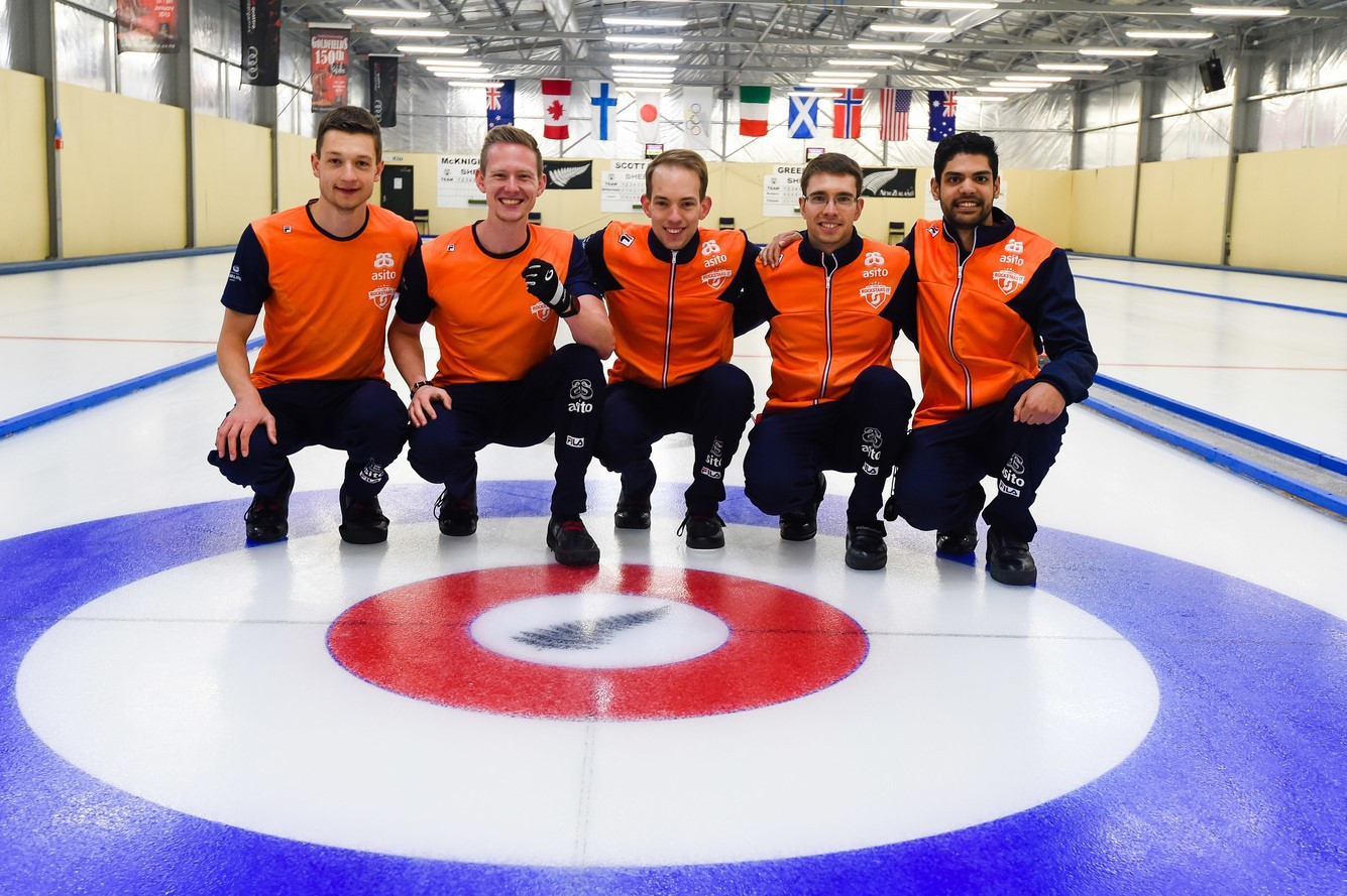 The Dutch men secured the last available place at this year's World Championship at a qualification event in Naseby in January ©WCF/Clare Toia-Bailey