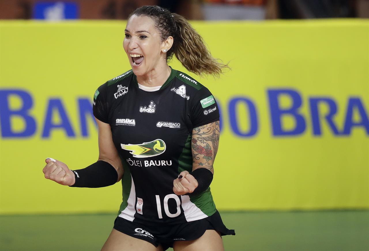 Brazilian volleyball player Tiffany Abreu is among an increasing number of transgender competitors taking part in women's sport and causing plenty of controversy ©YouTube