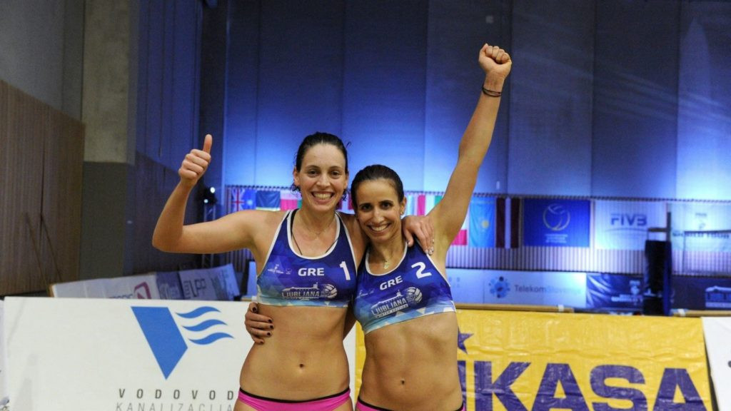 Vicky Arvaniti and Penny Karagkouni of Greece have won both their qualifying matches in straight sets to earn a place in the women's main draw in the FIVB Beach Volleyball World Tour event at Manly Beach, Sydney ©FIVB