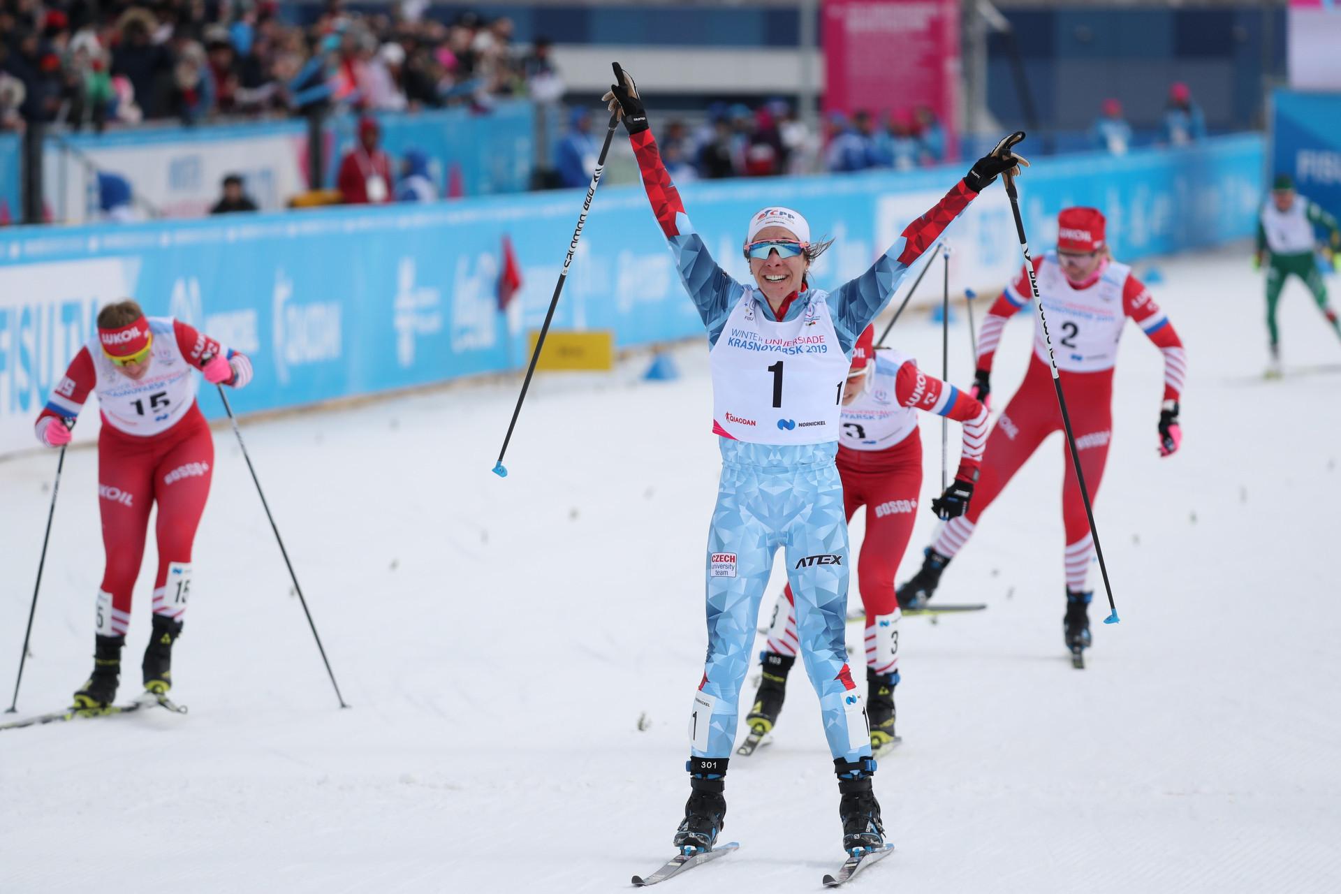 Czech skier Hyncicova ends Russian cross-country domination at Krasnoyarsk 2019 Winter Universiade
