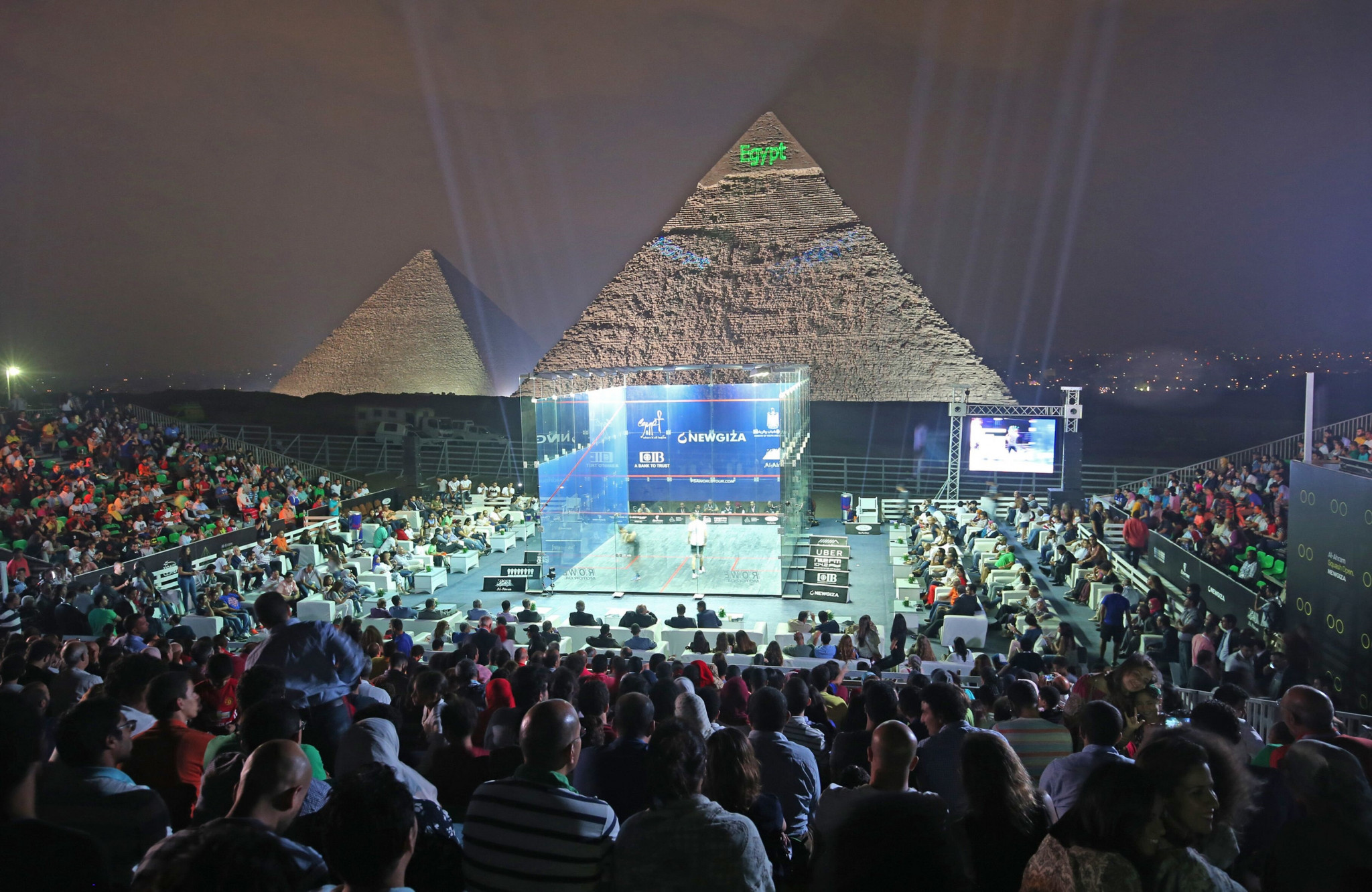 The 2019-2020 PSA Women's World Championship will take place in front of the Great Pyramid of Giza, the only ancient wonder of the world to remain largely in tact ©PSA