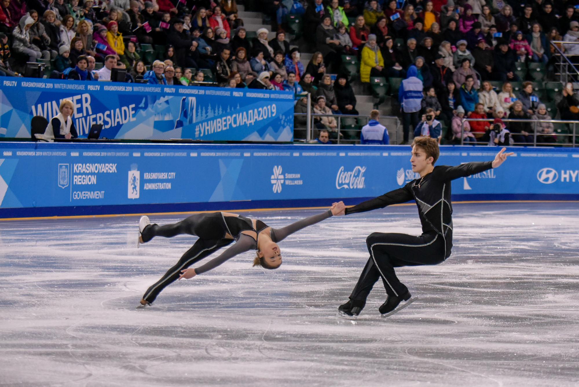 Figure skating competition begins at Krasnoyarsk 2019 Winter Universiade