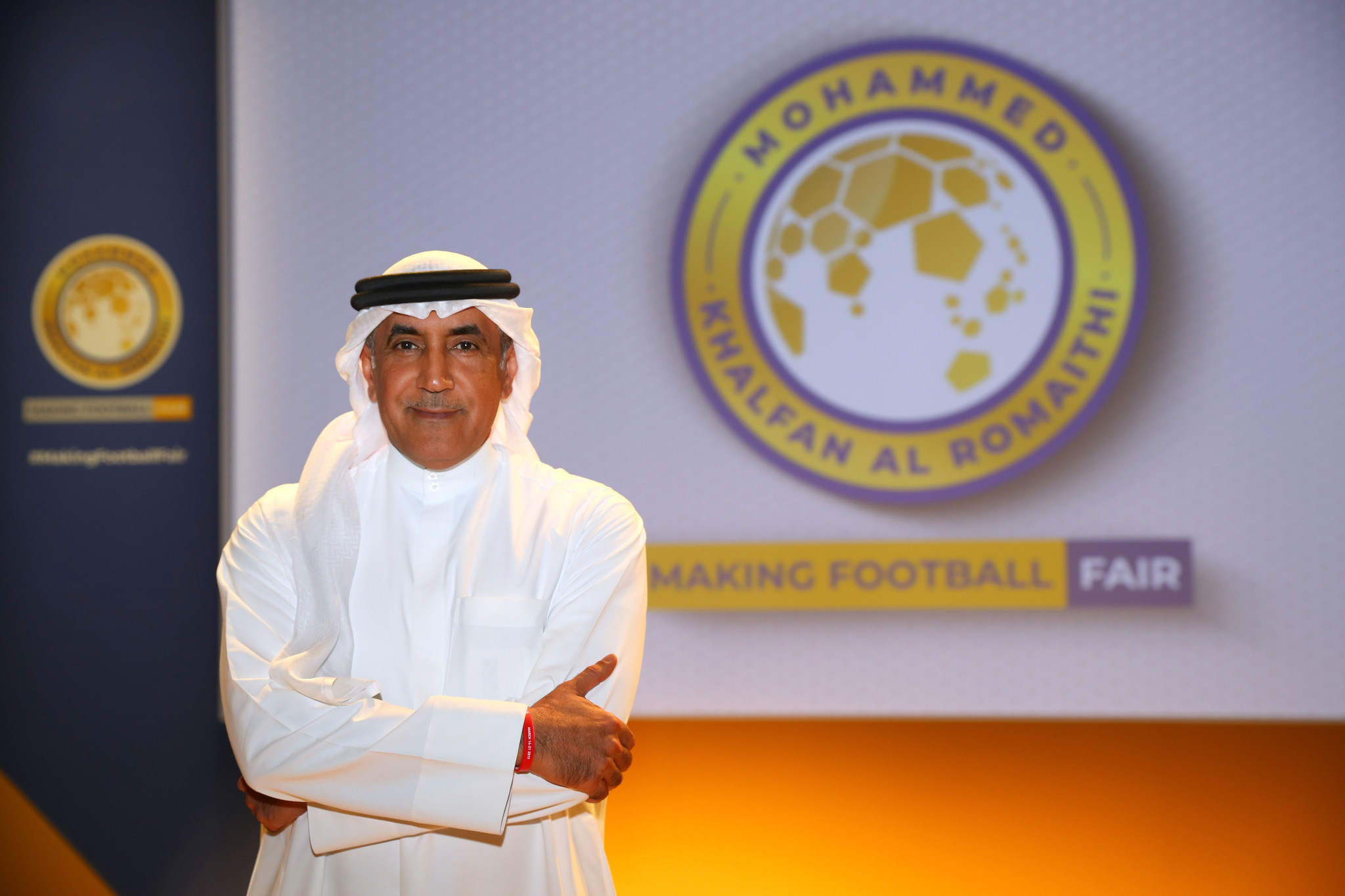 Mohammed Khalfan Al Romaithi launched his campaign for election as President of the Asian Football Confederation in Abu Dhabi today ©Getty Images