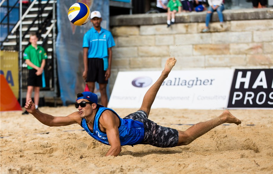 Chile's Grimalt brothers, second seeds for the FIVB Beach Volleyball World Tour event in Sydney, have made a strong start ©FIVB