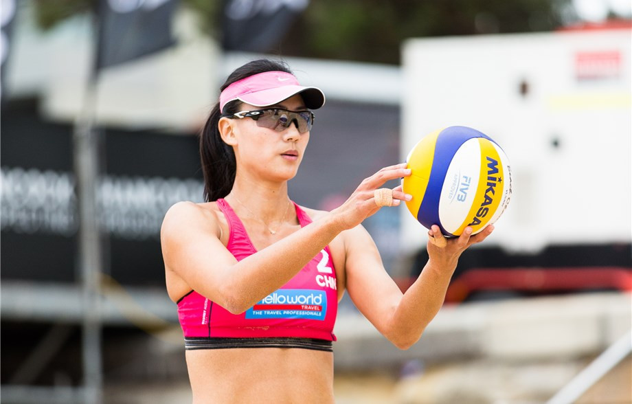 Olympic bronze medallist Xue Chen is leading China's challenge by example at the FIVB Beach Volleyball World Tour event in Sydney ©FIVB