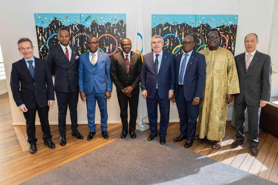 Olympic Solidarity, communications, legal and constitutional issues were among the topics discussed when a team from the Ghana Olympic Committee visited the IOC in Lausanne to meet its President Thomas Bach ©GOC