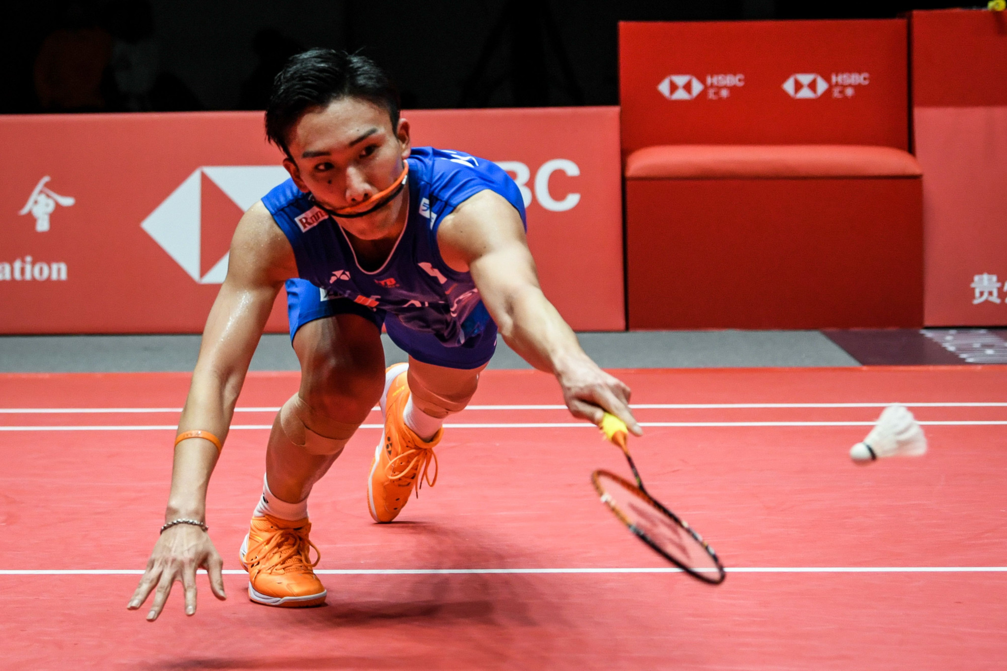 Top seed Kento Momota of Japan has moved a step closer to claiming the men's singles title at the All England Badminton Championships in Birmingham ©Getty Images