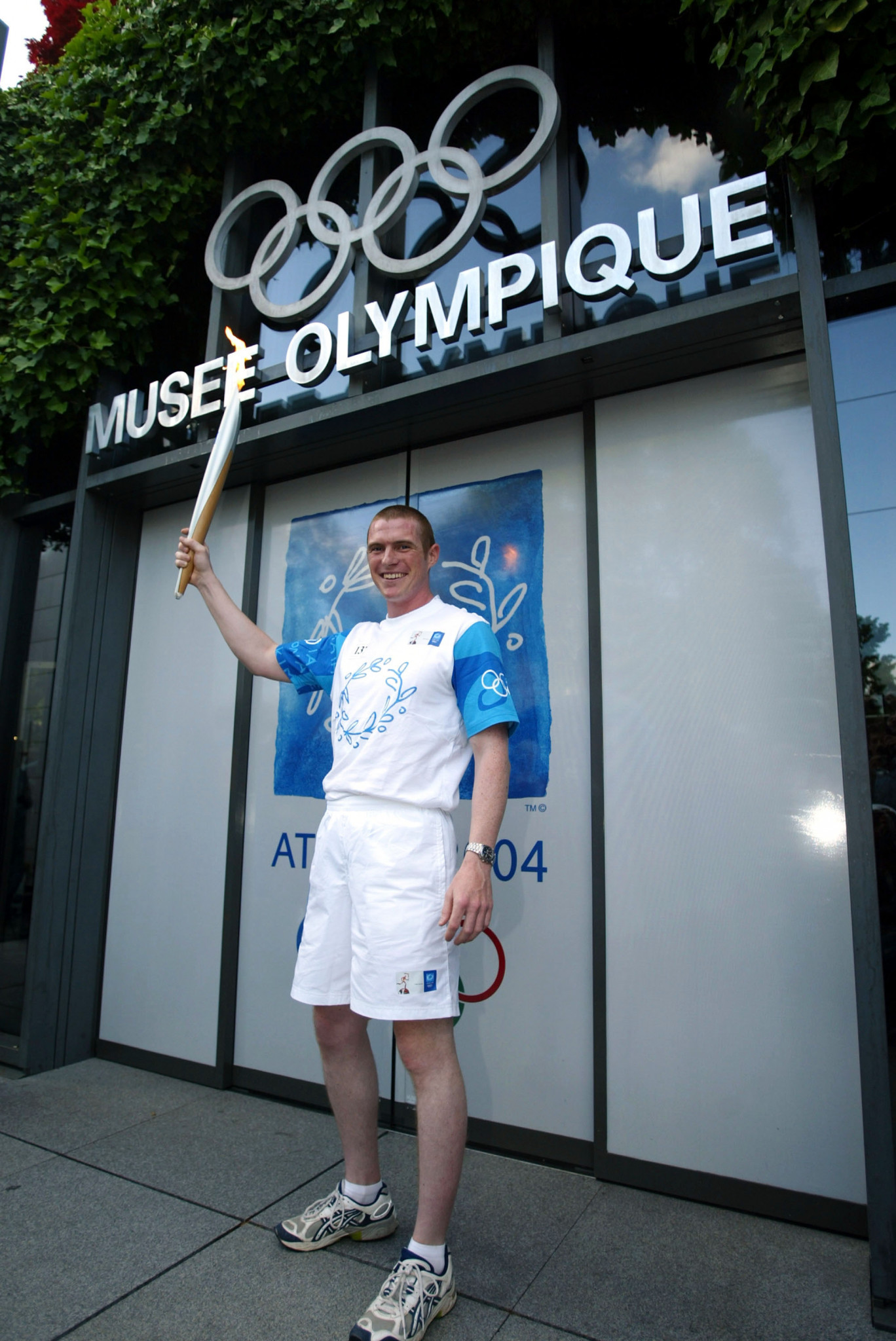 The Athens 2004 Torch Relay visited the Olympic Museum in Lausanne ©Getty Images