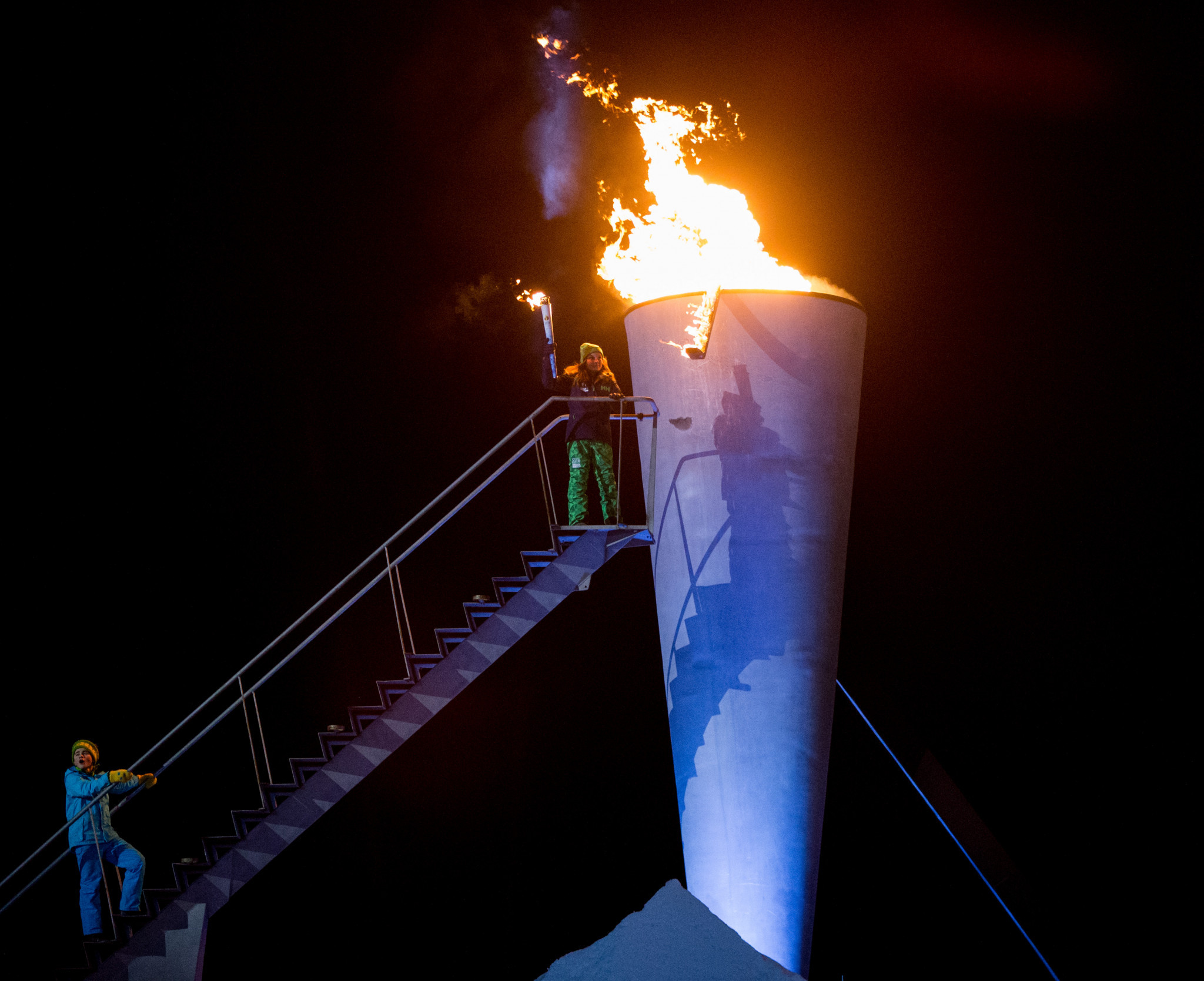 Princess Ingrid Alexander of Norway lit the Lillehammer 2016 flame ©Getty Images
