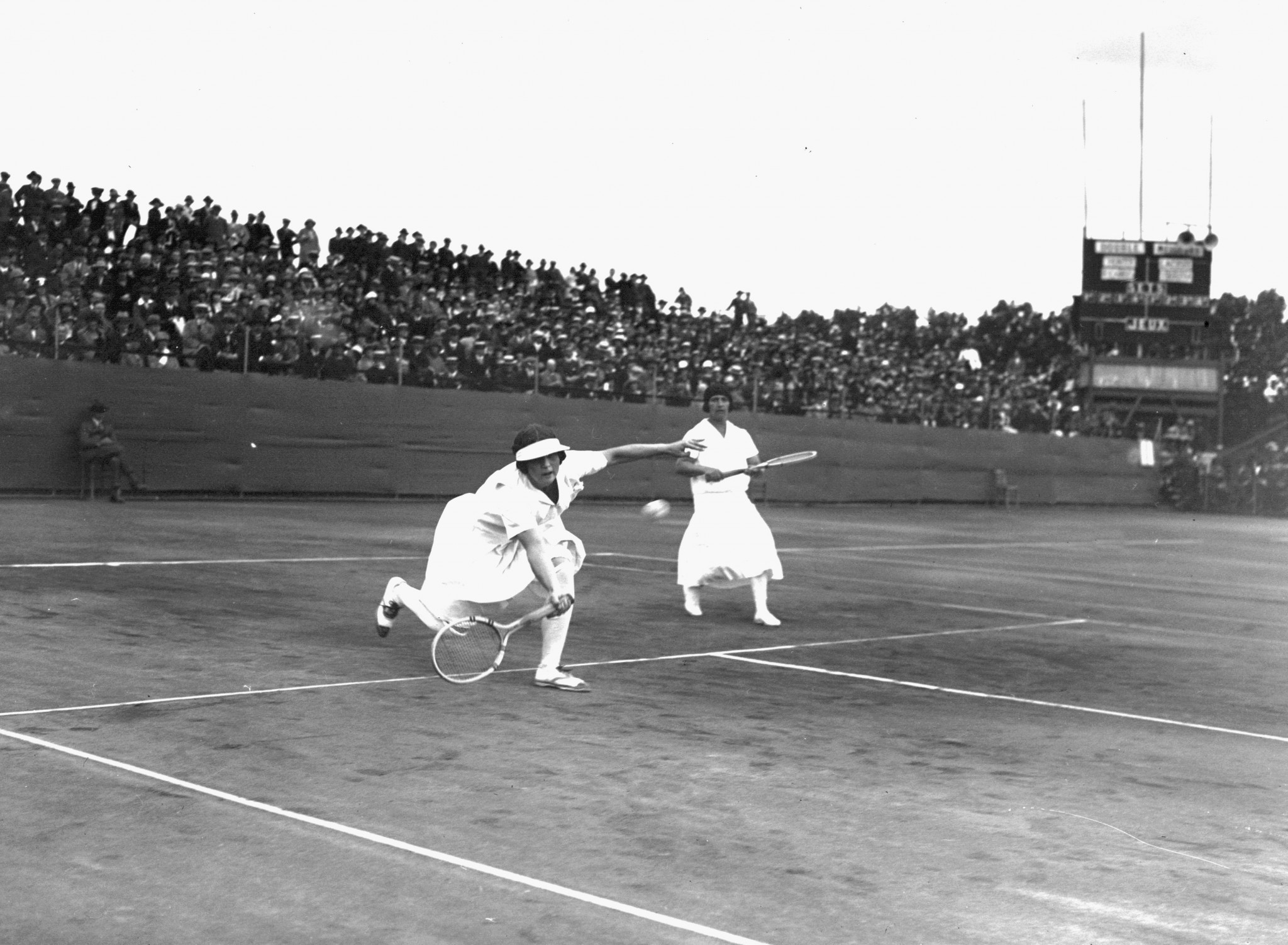 Female tennis players in action at Paris 2024