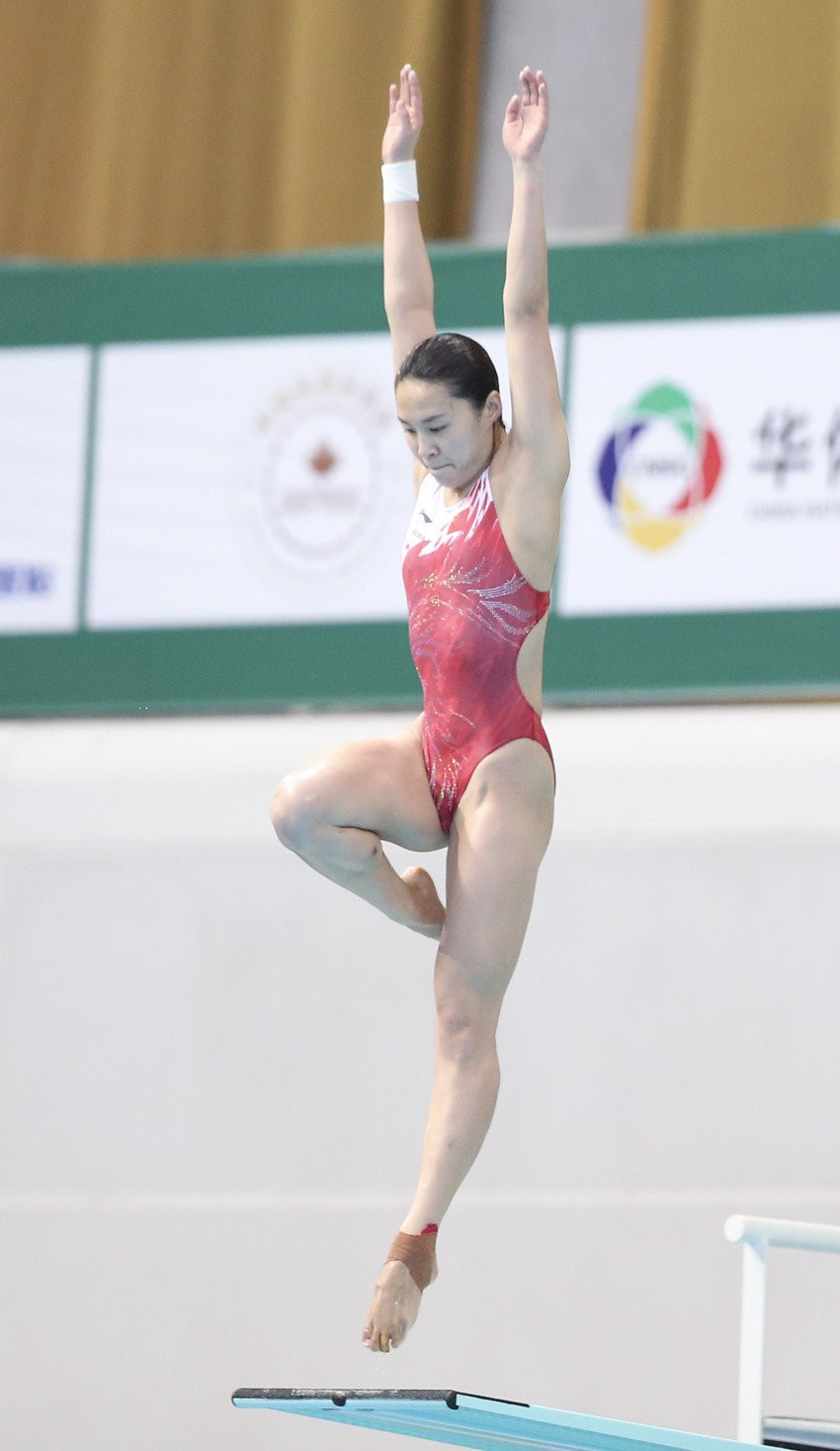 Han Wang inflicted the first defeat on her fellow Chinese diver Shi Tingmao since 2013 at today's FINA Diving World Series event at Beijing's Water Cube ©FINA