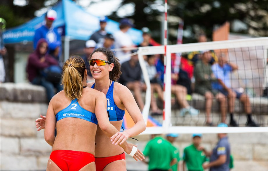 Vasiliki Arvaniti and Panagiota Karagkouni are on a four-match unbeaten run at the FIVB Beach Volleyball World Tour event at Manly Beach in Sydney ©FIVB