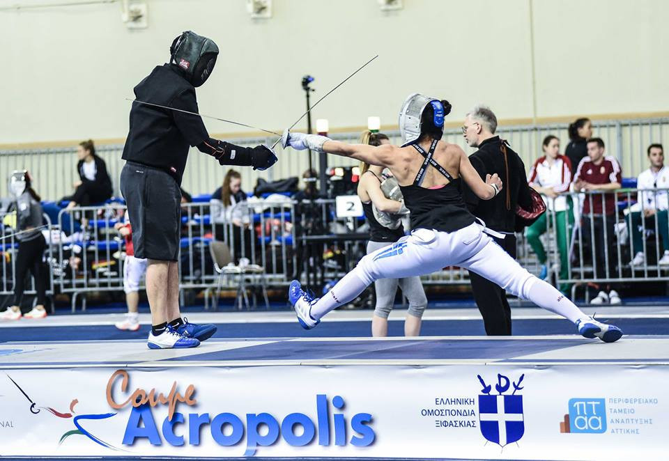 Home favourite Georgiadou sets up tie with top seed Velikaya at FIE Women's Sabre World Cup