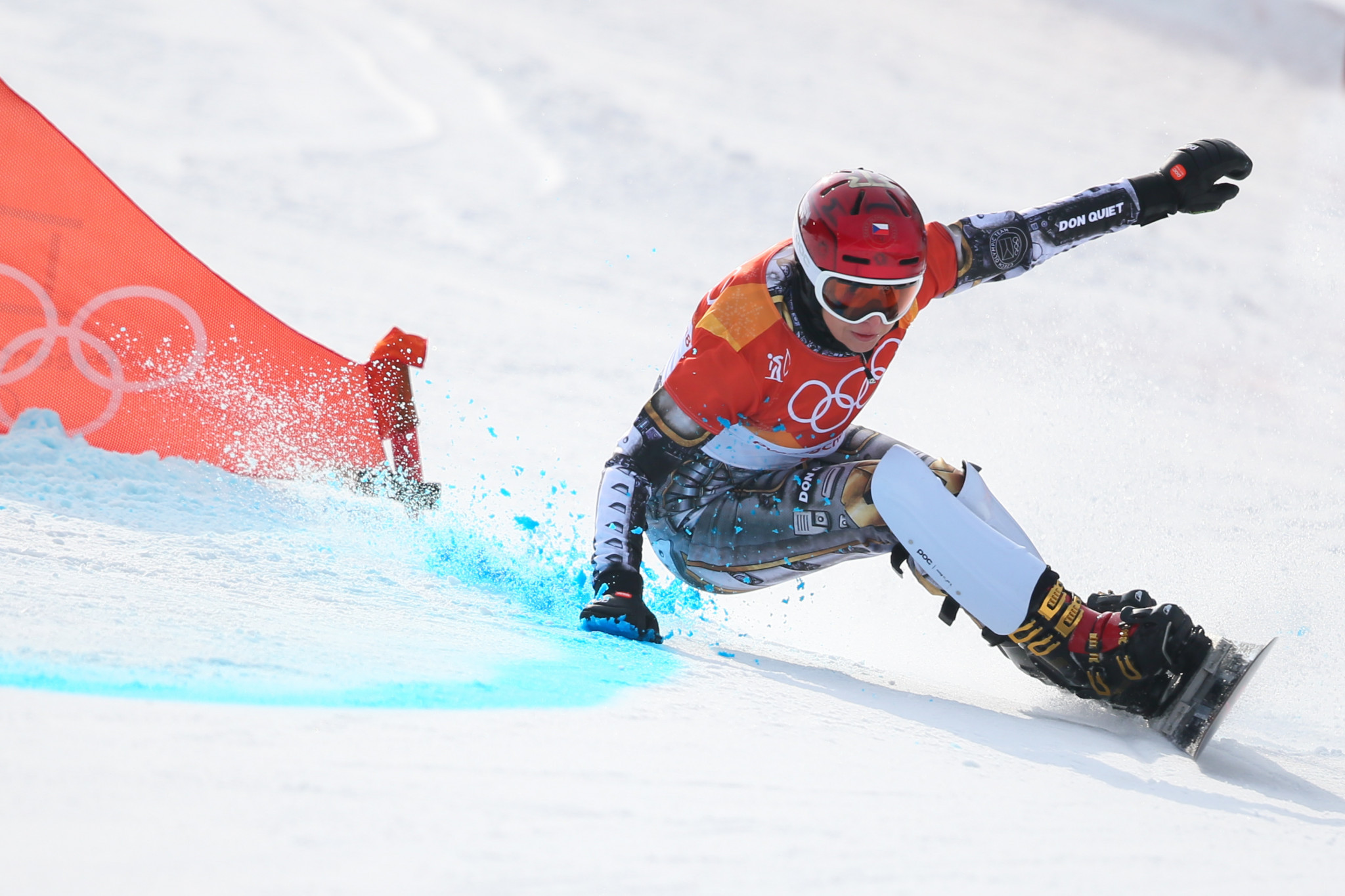 Ester Ledecká of the Czech Republic will be out to extend her overall lead ©Getty Images