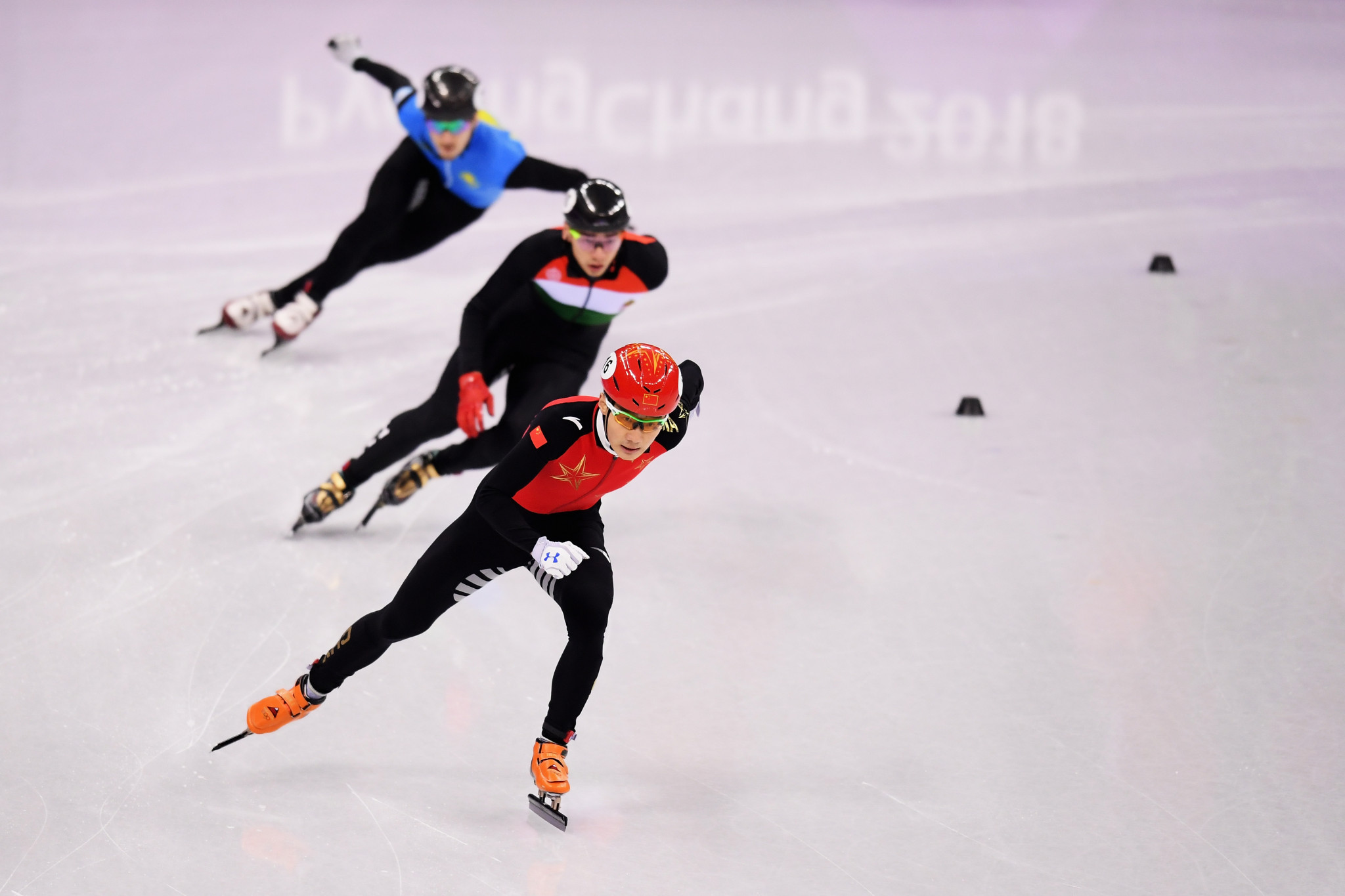 Olympic 500 metres champion Wu Dajing endured a difficult start to the World Short Track Speed Skating Championships ©Getty Images