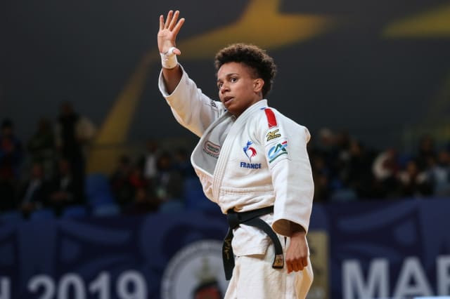 France's world number one Amandine Buchard Nordmeyer ensured the under-52kg went to form ©IJF