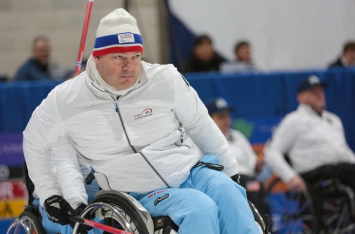 Norway's Jostein Stordahl helped guide the world and defending champions to an automatic place in tomorrow's semi-finals at the World Wheelchair Curling Championships in Stirling, Scotland ©World Curling