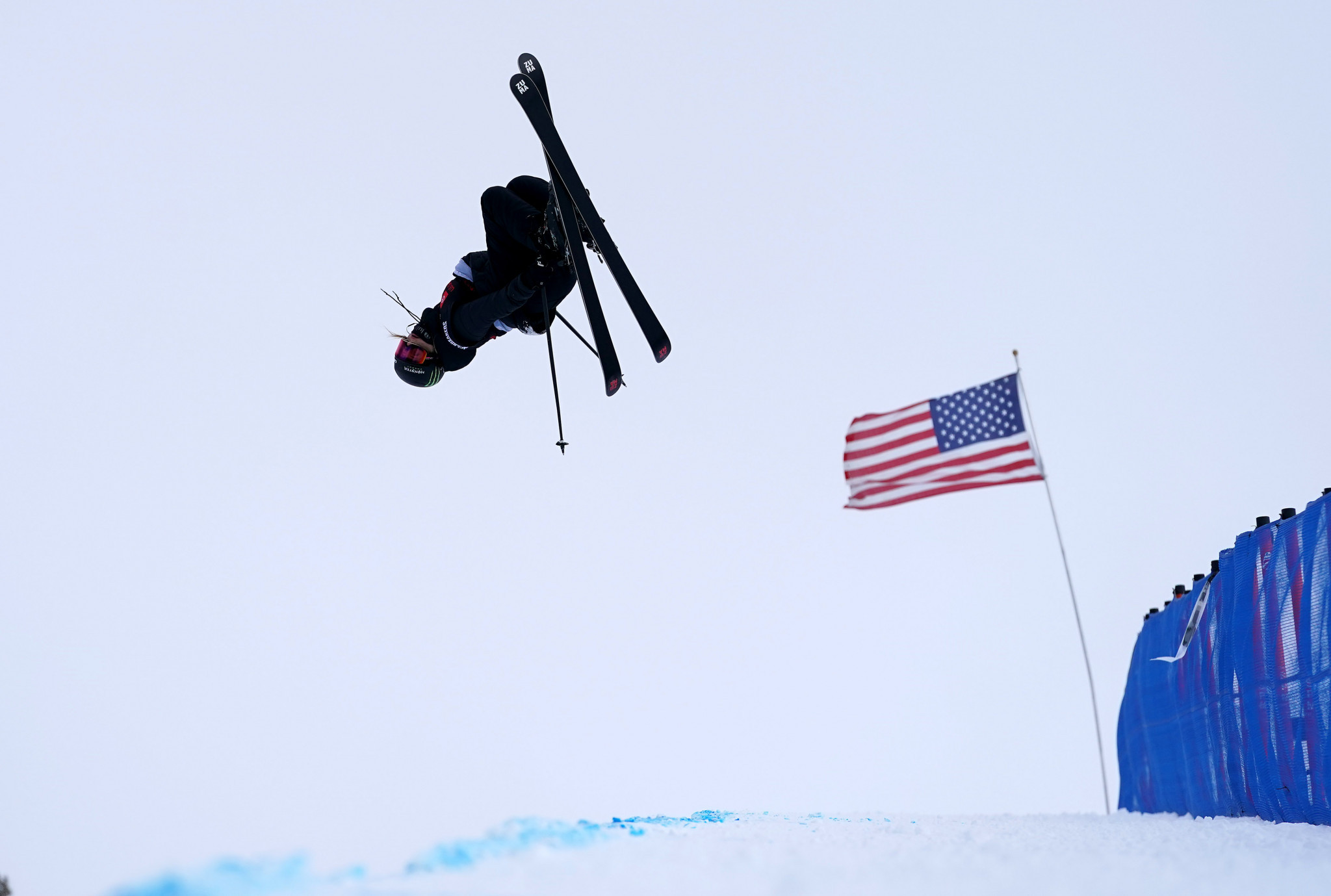 Cassie Sharpe led the women's freestyle skiing halfpipe qualifiers but no action was possible today ©Getty Images