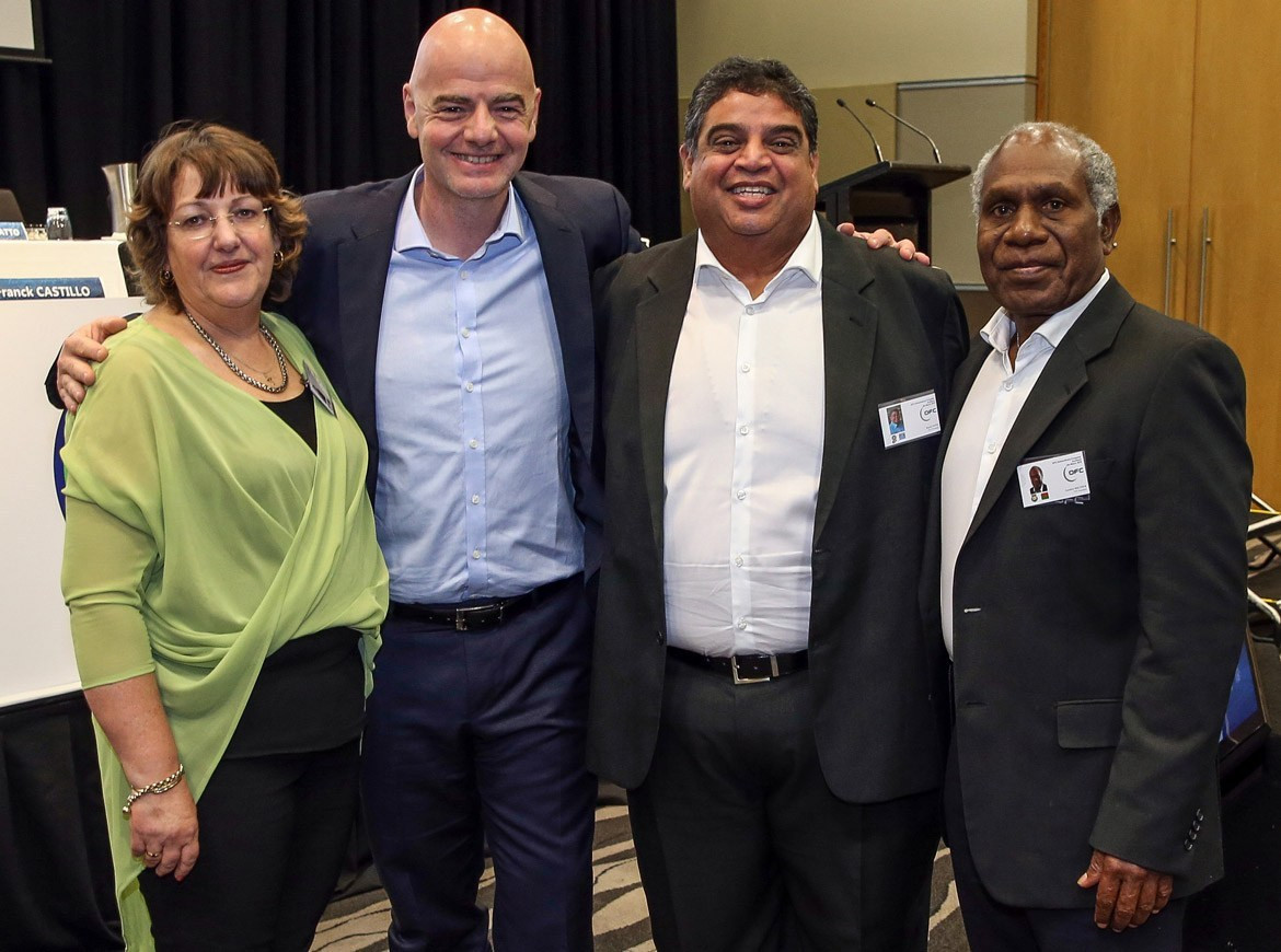 FIFA President Gianni Infantino was in attendance at the Congress in Auckland ©OFC