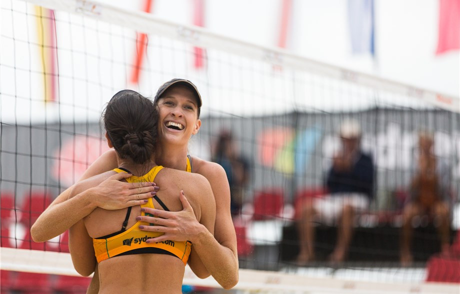 Nicole Laird and Becchara Palmer are carrying home hopes into the semi-finals of the FIVB Beach Volleyball World Tour event in Sydney  ©FIVB