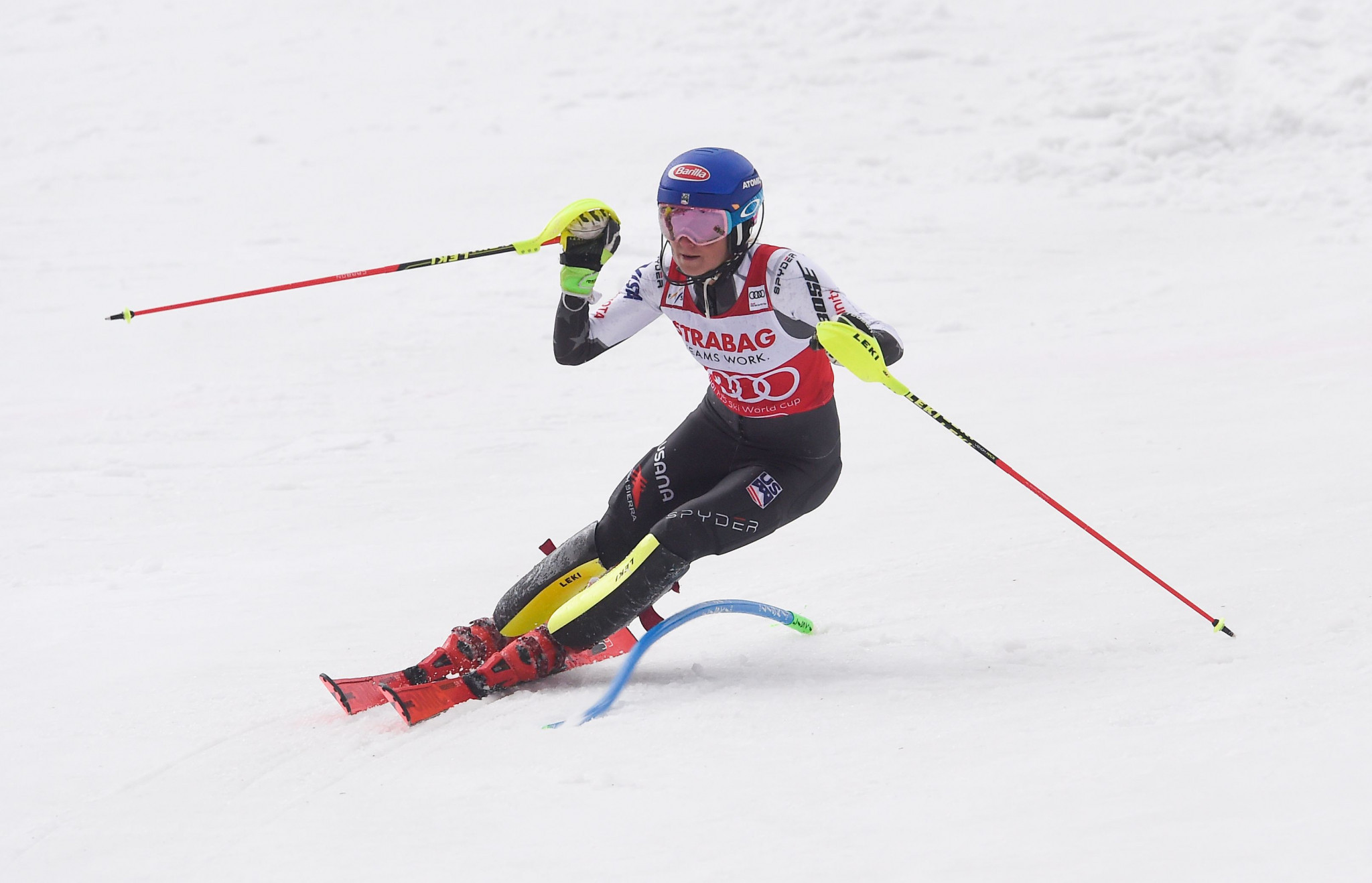 Shiffrin claims record-breaking 15th win of the season with slalom victory at FIS Alpine Skiing World Cup