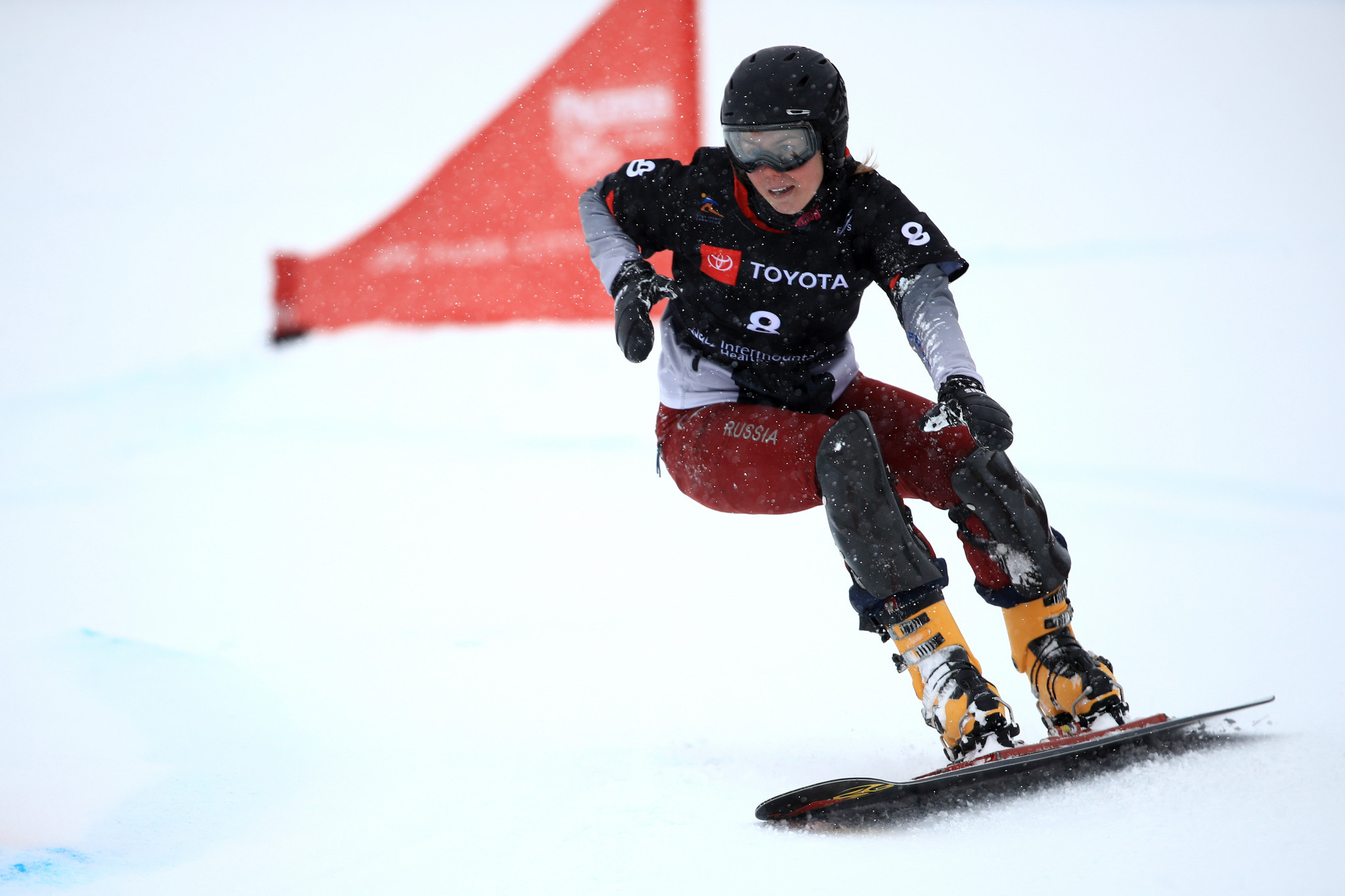 Milena Bykova won the women's event on the Swiss slopes ©Getty Images